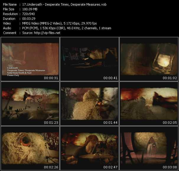 Underoath HQ Videoclip «Desperate Times, Desperate Measures»