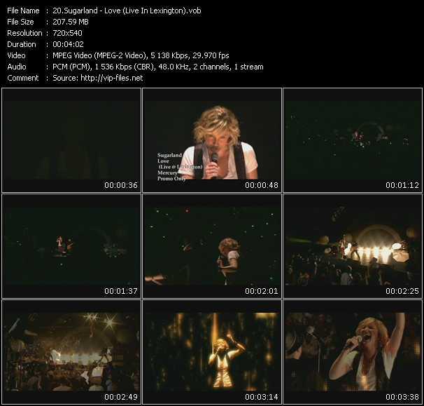 Sugarland HQ Videoclip «Love (Live In Lexington)»