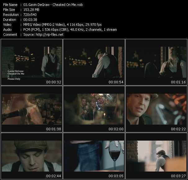 Gavin DeGraw HQ Videoclip «Cheated On Me»