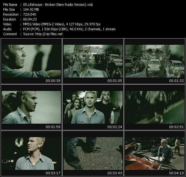 Lifehouse HQ Videoclip «Broken (New Radio Version)»