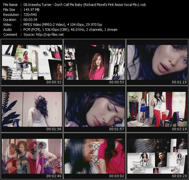 Kreesha Turner HQ Videoclip «Don't Call Me Baby (Richard Morel's Pink Noise Vocal Mix)»