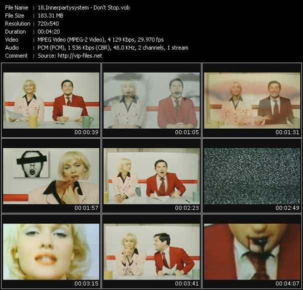 Innerpartysystem HQ Videoclip «Don't Stop»