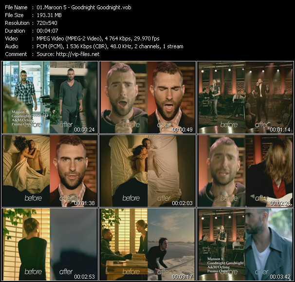 Maroon 5 HQ Videoclip «Goodnight Goodnight»
