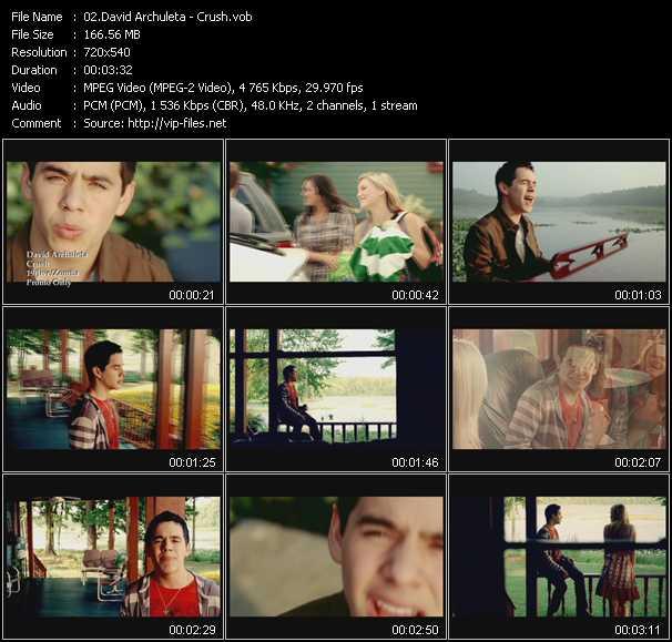 David Archuleta HQ Videoclip «Crush»