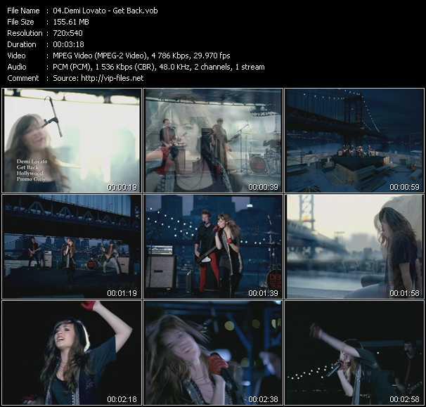 Demi Lovato HQ Videoclip «Get Back»