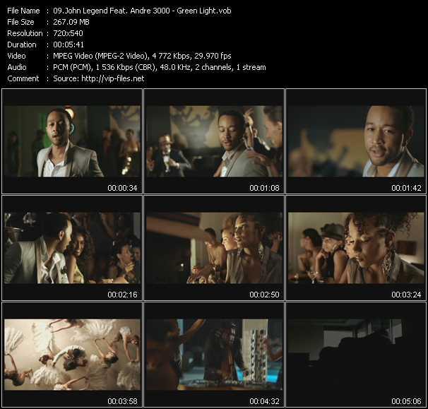 John Legend Feat. Andre 3000 HQ Videoclip «Green Light»