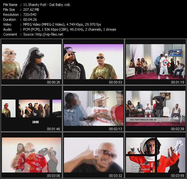 Shawty Putt HQ Videoclip «Dat Baby»