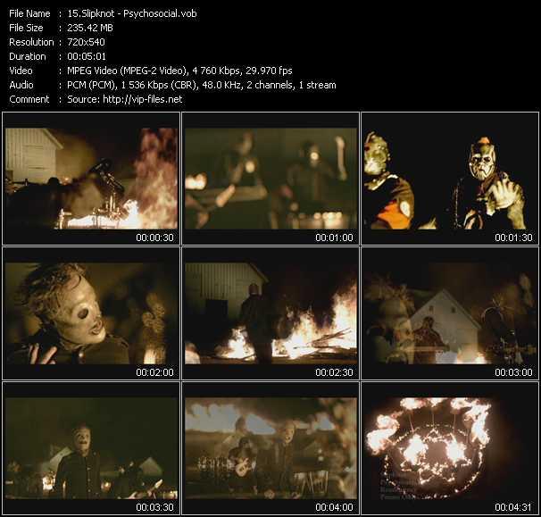 Slipknot HQ Videoclip «Psychosocial»