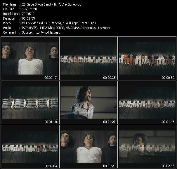 Gabe Dixon Band HQ Videoclip «Till You're Gone»