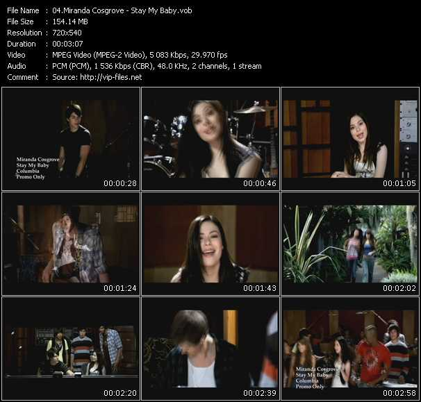 Miranda Cosgrove HQ Videoclip «Stay My Baby»