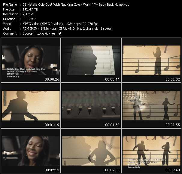 Natalie Cole Duet With Nat King Cole HQ Videoclip «Walkin' My Baby Back Home»