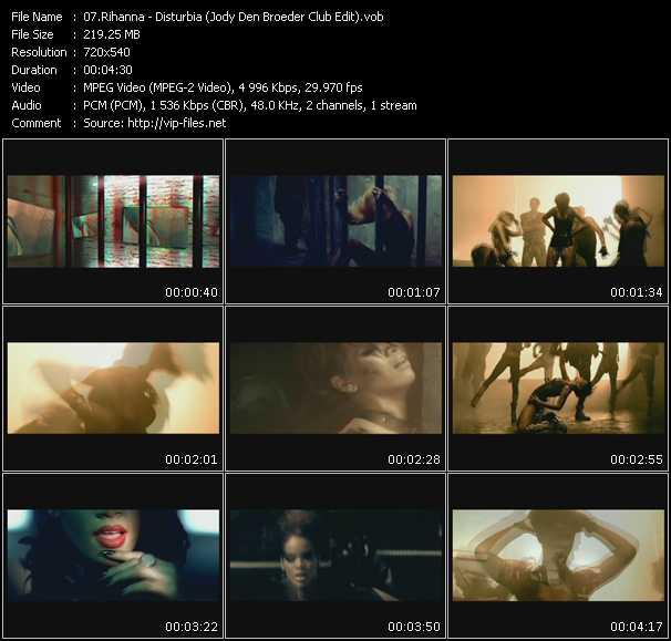 Rihanna HQ Videoclip «Disturbia (Jody Den Broeder Club Edit)»