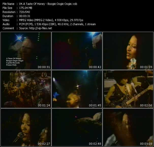 A Taste Of Honey video - Boogie Oogie Oogie