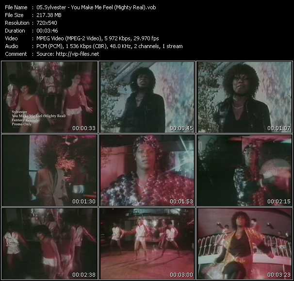Sylvester HQ Videoclip «You Make Me Feel (Mighty Real)»