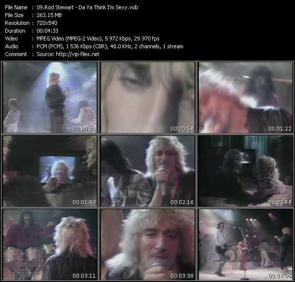 Rod Stewart video - Da Ya Think I'm Sexy?