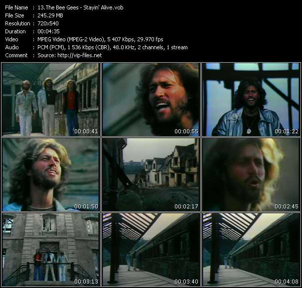Bee Gees HQ Videoclip «Stayin' Alive»