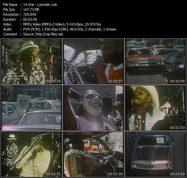 War HQ Videoclip «Lowrider»