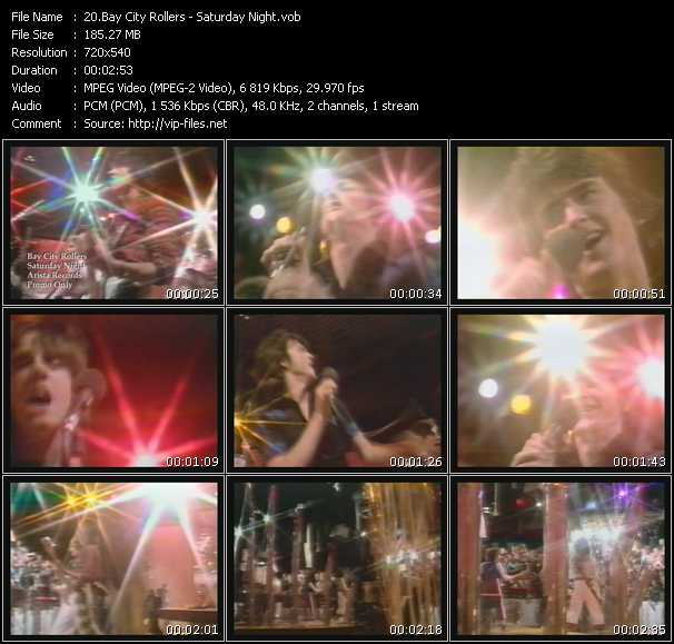 Bay City Rollers HQ Videoclip «Saturday Night»