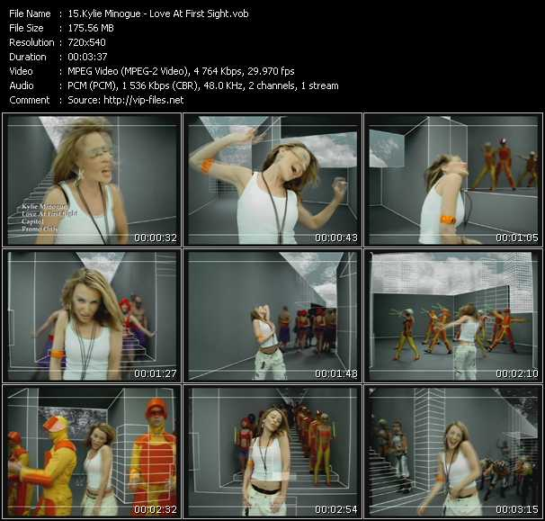Kylie Minogue video - Love At First Sight
