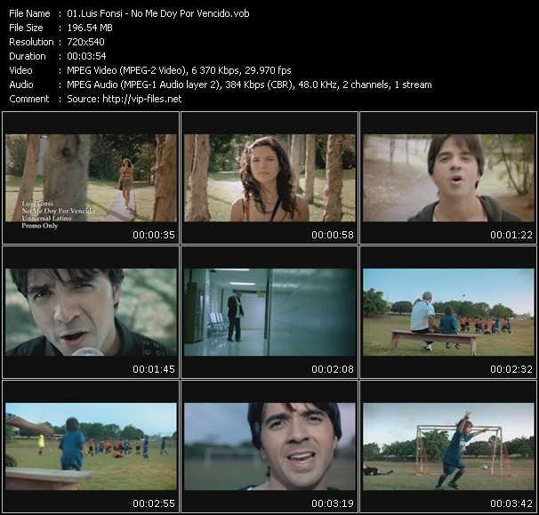 Luis Fonsi HQ Videoclip «No Me Doy Por Vencido»