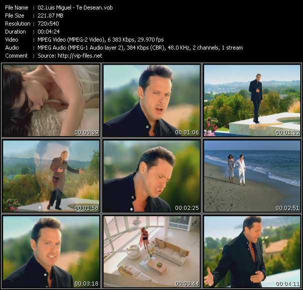 Luis Miguel HQ Videoclip «Te Desean»