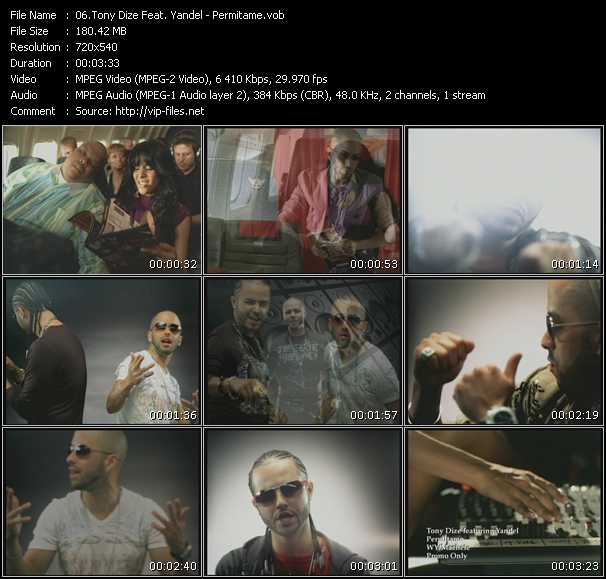 Tony Dize Feat. Yandel video - Permitame