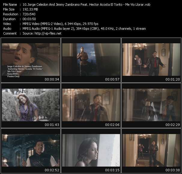 Jorge Celedon And Jimmy Zambrano Feat. Hector Acosta El Torito HQ Videoclip «Me Vio Llorar»