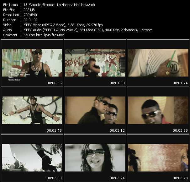 Manolito Simonet HQ Videoclip «La Habana Me Llama»