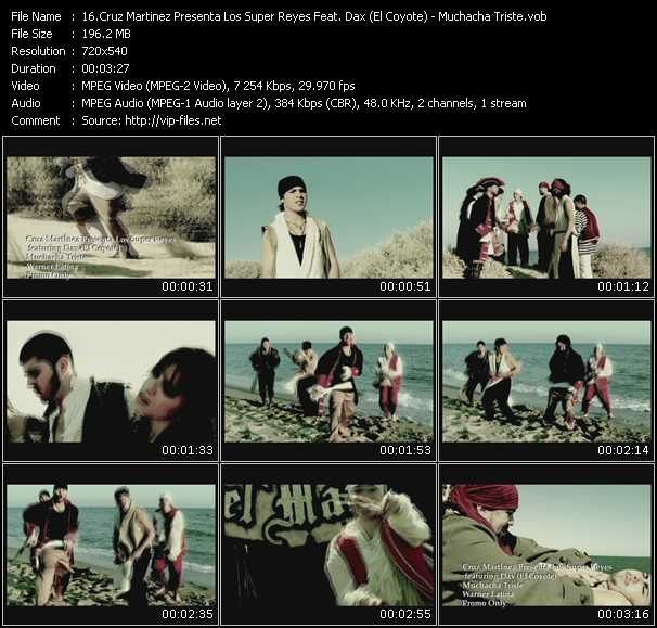 Cruz Martinez Presenta Los Super Reyes Feat. Dax (El Coyote) HQ Videoclip «Muchacha Triste»