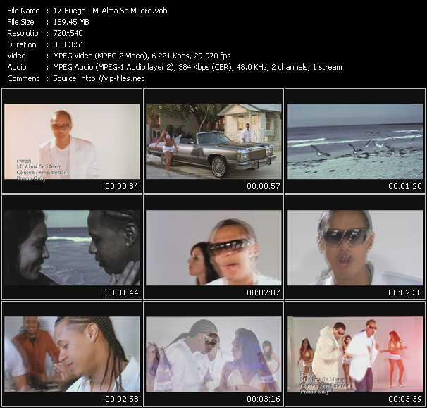 Fuego HQ Videoclip «Mi Alma Se Muere»
