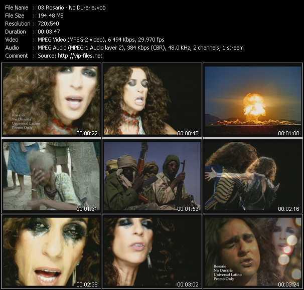 Rosario (Rosario Flores) HQ Videoclip «No Dudaria»