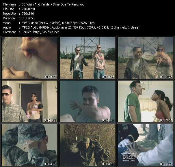 Wisin And Yandel HQ Videoclip «Dime Que Te Paso»