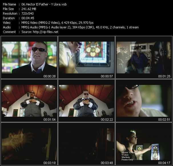 Hector El Father HQ Videoclip «Y Llora»