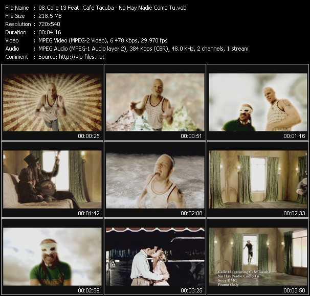 Calle 13 Feat. Cafe Tacuba HQ Videoclip «No Hay Nadie Como Tu»