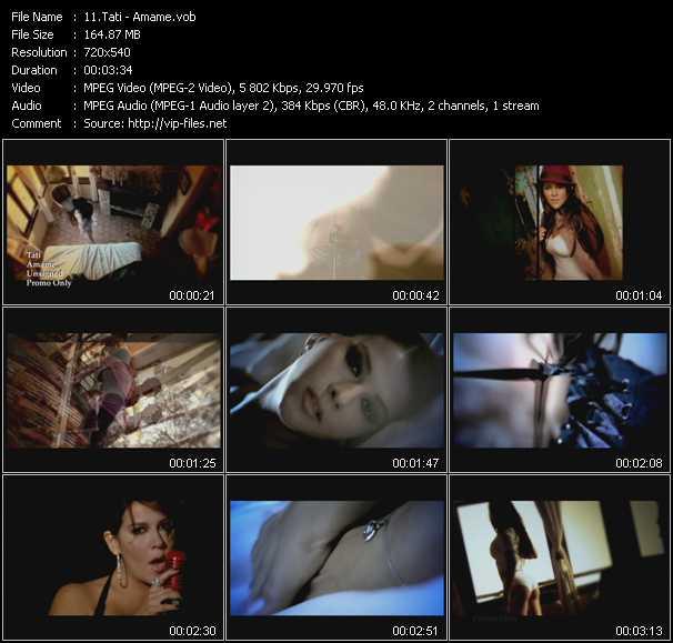 Tati HQ Videoclip «Amame»