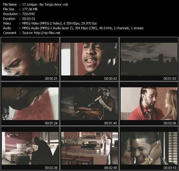 Unique HQ Videoclip «No Tengo Amor»