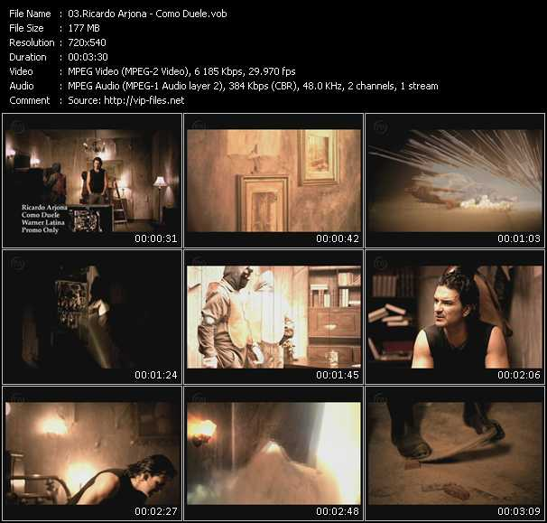 Ricardo Arjona HQ Videoclip «Como Duele»