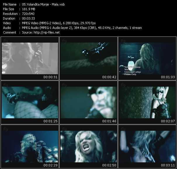 Yolandita Monje HQ Videoclip «Mala»