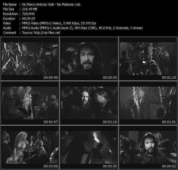 Marco Antonio Solis HQ Videoclip «No Molestar»
