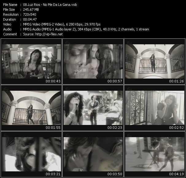 Luz Rios HQ Videoclip «No Me Da La Gana»
