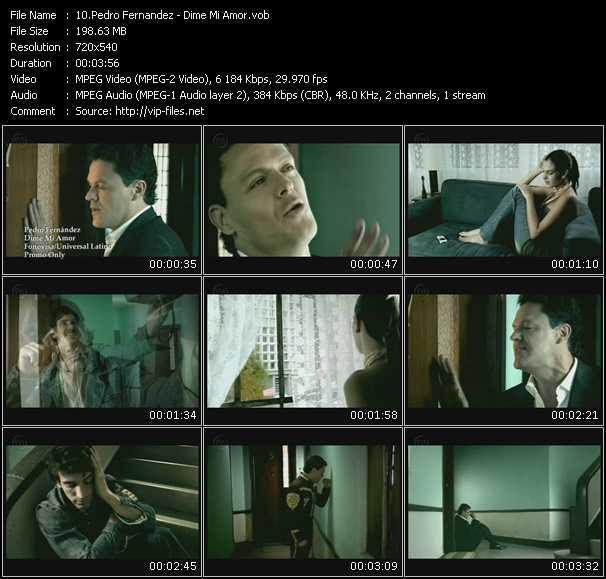 Pedro Fernandez HQ Videoclip «Dime Mi Amor»