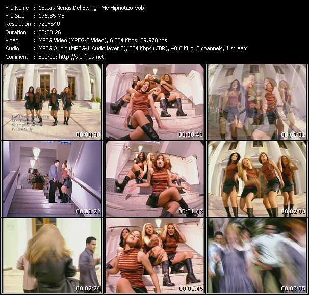 Las Nenas Del Swing HQ Videoclip «Me Hipnotizo»