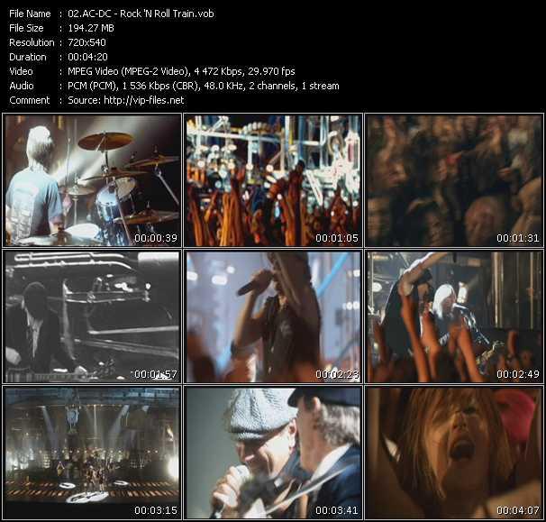 Ac-Dc video - Rock 'N Roll Train