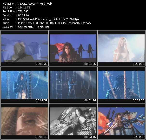 Alice Cooper HQ Videoclip «Poison»