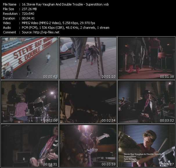 Stevie Ray Vaughan And Double Trouble HQ Videoclip «Superstition»