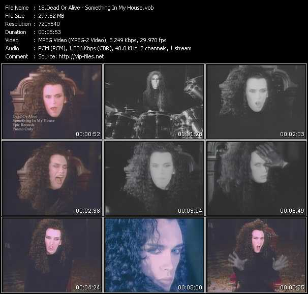 Dead Or Alive HQ Videoclip «Something In My House (12 Inch Version)»