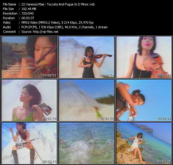 Vanessa Mae HQ Videoclip «Toccata And Fugue In D Minor»