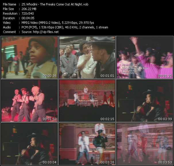 Whodini HQ Videoclip «The Freaks Come Out At Night»