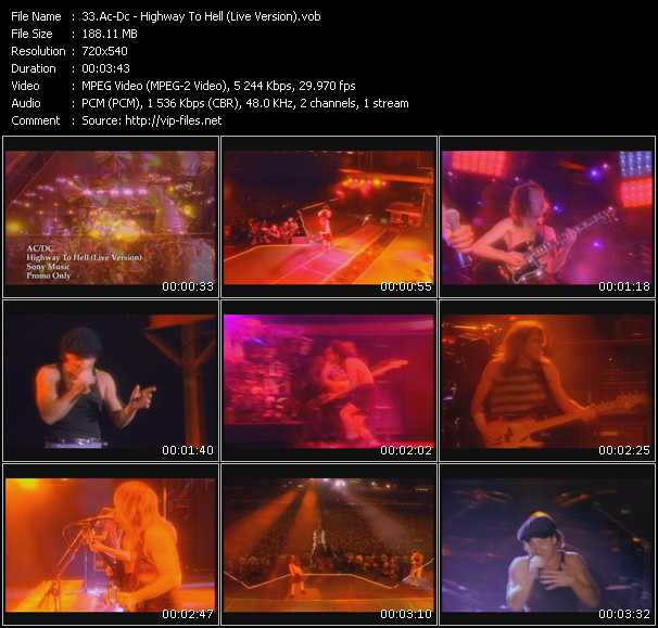 Ac-Dc HQ Videoclip «Highway To Hell (Live Version)»