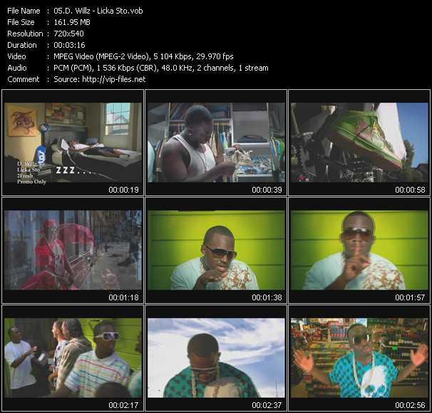 D. Willz HQ Videoclip «Licka Sto»